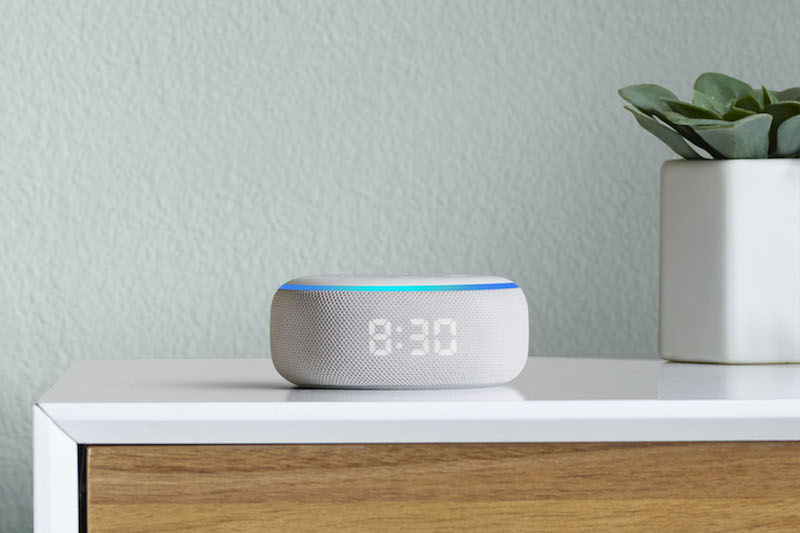 Amazon Alexa Echo Dot with Clock
