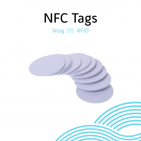 NFC Tags Ntag215 RFID วงกลม 25mm with case