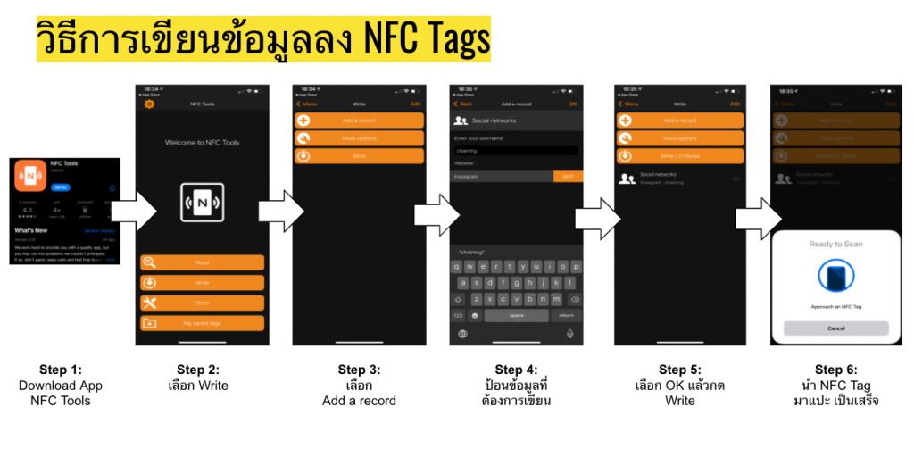 วิธีการทำ NFC Tag เปิด Facebook Instagram