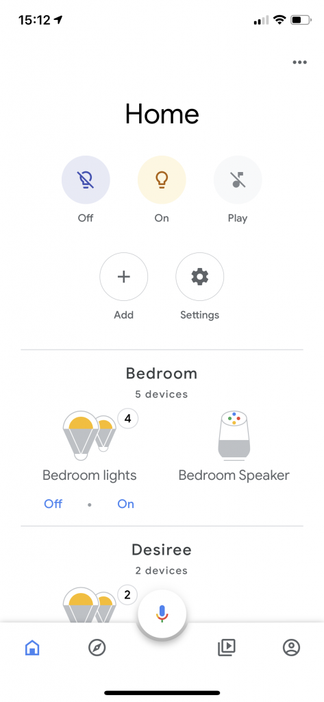 Google Home Application