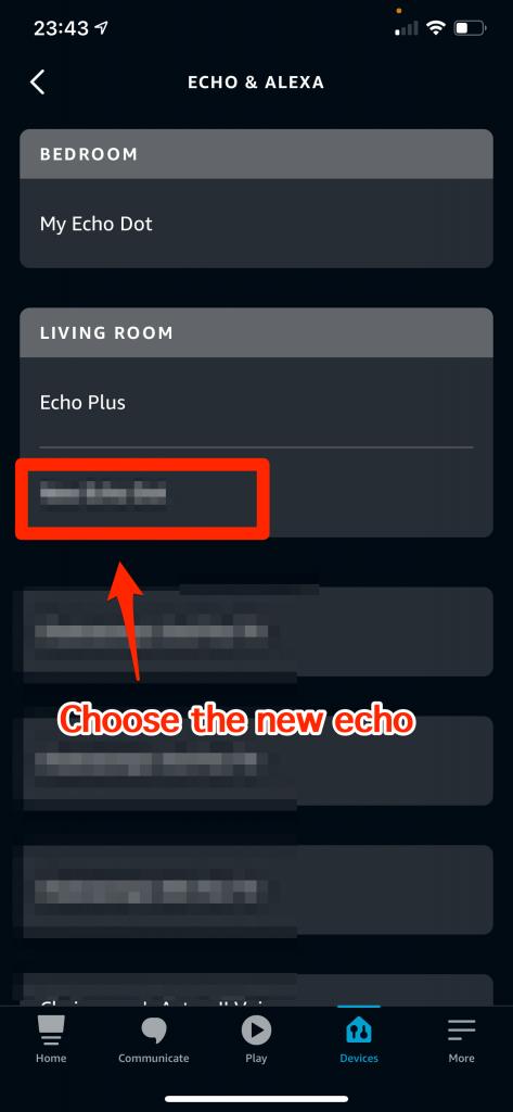 Choose the new echo